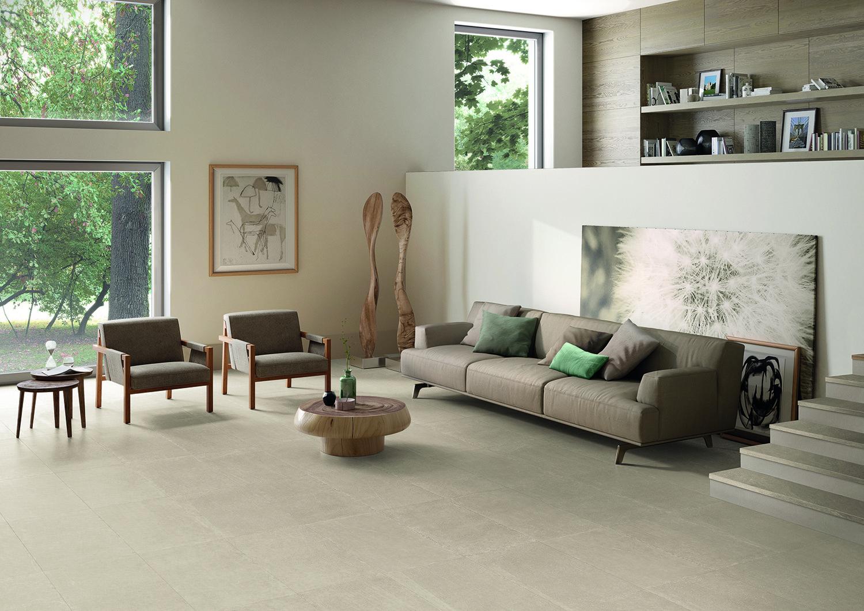 Fliesen und Feinsteinzeug für das Wohnzimmer in Natursteinoptik (3)