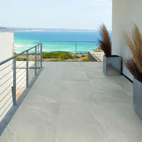 Fliesen für den Aussenbereich im Metalllook, Zementlook, Betonlook