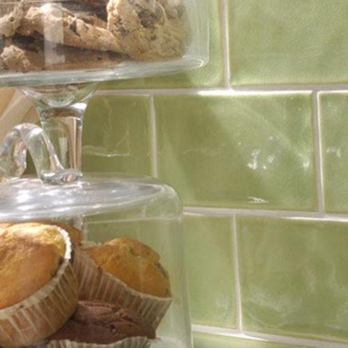 Kueche mit Fliesen aus Keramik