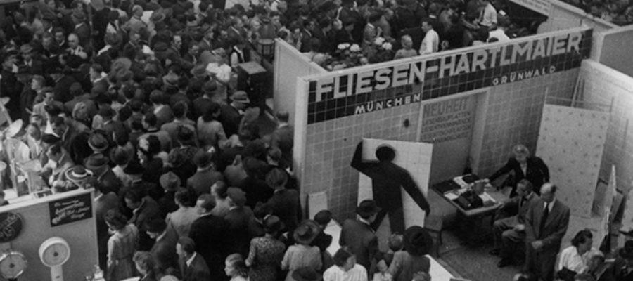 Fliesen Hartlmaier auf Handwerkermesse 1949